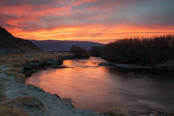 Sunrise of the Owens River