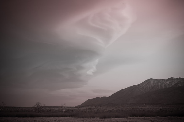 Lenticular clouds over Bishop