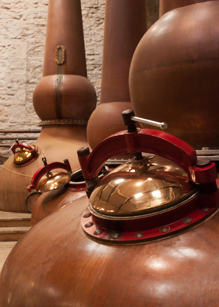 Three distilling copper pot - that's all the woodfords they can make at once