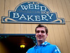 "Martin in front of the ""Weed Bakery"""