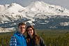 Martin and Carolina in front of Mount Shasta