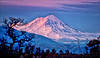 November 27, 2012 - Sunset at Mt.Shasta - a snow-clad volcano in Northern California