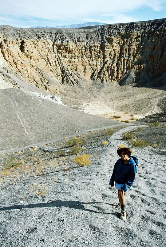 in the Ubehebe Volcanic Crater, Death Valley