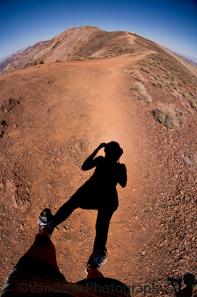 Hike atop Dante's view, Death Valley NP
