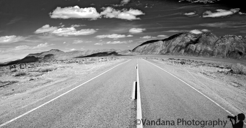 The road from Pahrump to Death Valley National PArk