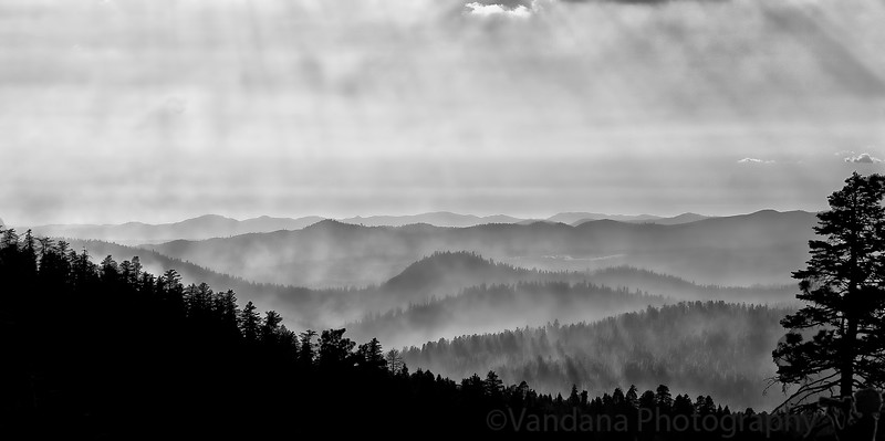 July 13, 2011 - a misty evening over the Yosemite mountains