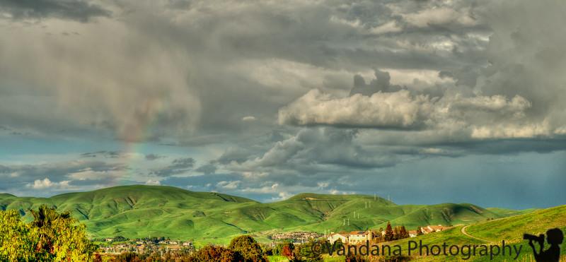 March 5, 2015 - a faint rainbow comes up