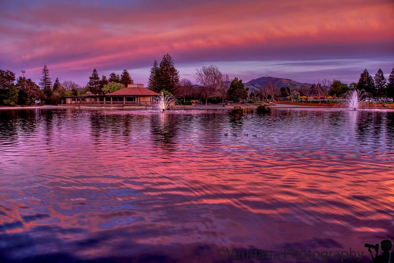 February 28, 2016 - lovely sunset at Heather Farm Park