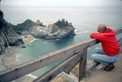 © Joseph Dougherty. All rights reserved.  Julia Pfeiffer Burns State Park.   This state park is named after Julia Pfeiffer Burns, a well respected pioneer woman in the Big Sur country. The park stretches from the Big Sur coastline into nearby 3,000-foot ridges.