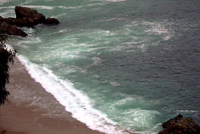 © Joseph Dougherty. All rights reserved.  Larger riptide developing off the beach at Julia Pfeiffer Burns State Park.