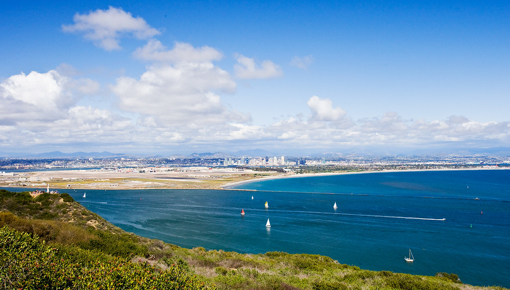San Diego Bay view from Point Loma Lighthouse.