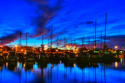 © Joseph Dougherty.  All rights reserved.   Breaking dawn over Ventura Harbor.