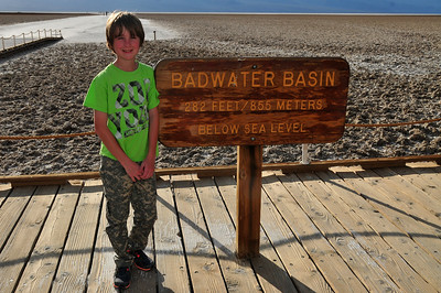 © Joseph Dougherty. All rights reserved.   Badwater, 282 feet below sea level; lowest point in the continental USA.   Death Valley National Park.