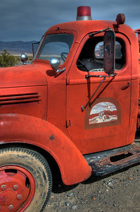 © Joseph Dougherty. All rights reserved.   Old vintage Death Valley fire truck.  Death Valley National Park.