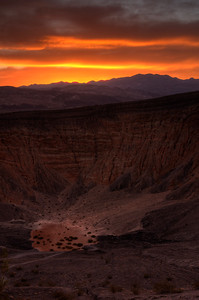 © Joseph Dougherty. All rights reserved.   Dawn breaks over Ubehebe Crater.   Death Valley National Park.
