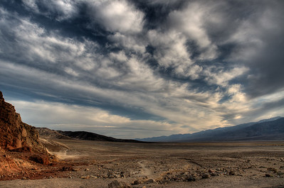 © Joseph Dougherty. All rights reserved.   Massive expanses of wide open arid space characterize the park.  Death Valley National Park.