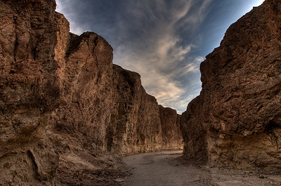 © Joseph Dougherty. All rights reserved.   Main channel of Golden Canyon, at the end of the day.   Death Valley National Park.