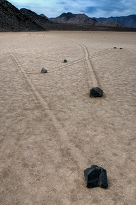 © Joseph Dougherty. All rights reserved.   Mysterious rocks at The Racetrack playa.   Death Valley National Park.