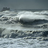 © Joseph Dougherty. All rights reserved.   Large waves and wind-blown seas.