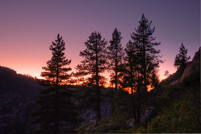 © Joseph Dougherty. All rights reserved.    Sunset in Kennedy Creek Canyon.