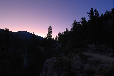© Joseph Dougherty. All rights reserved.   Predawn glow, beside the trail to Kennedy Meadows.