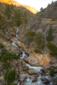 © Joseph Dougherty. All rights reserved.    Kennedy Creek Canyon as it cascades down to meet the runoff from Relief Reservoir.