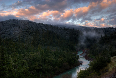 © Joseph Dougherty. All rights reserved.   South Fork of the Eel River just at sunrise.