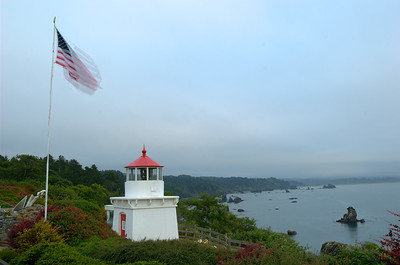 © Joseph Dougherty. All rights reserved.  Overcast skies above Trinidad Head Memorial Lighthouse.  Trinidad, CA
