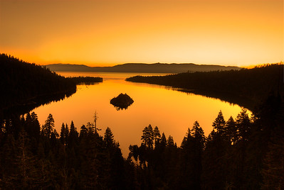 © Joseph W. Dougherty. All rights reserved.   Emerald Bay before dawn.