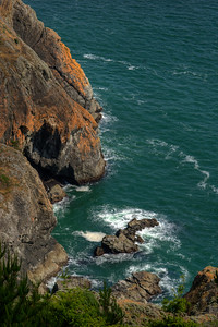 © Joseph Dougherty. All rights reserved.  Looking down on the rocky cove.