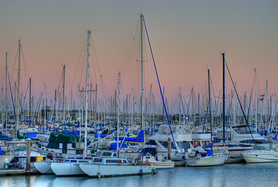 © Joseph W. Dougherty. All rights reserved.  Emeryville marina at sunset.