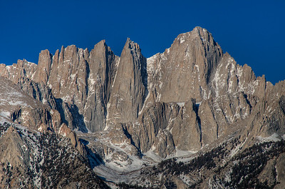 © Joseph Dougherty. All rights reserved.  The eastern face of Mt. Whitney.