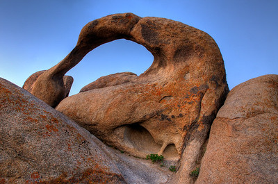 © Joseph Dougherty. All rights reserved.  Alabama Hills Arch at daybreak in the eastern Sierra.