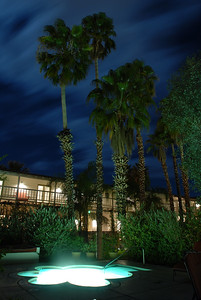 © Joseph Dougherty. All rights reserved.   The Colony Palms Hotel at night.