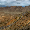 © Joseph Dougherty. All rights reserved. <br /> <br /> The highway rising out of the Coachella Valley into the Santa Rosa Mountains; Highway 79, near Palm Springs, CA.