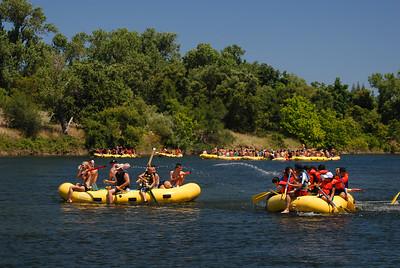 © Joseph Dougherty. All rights reserved.   Rafting on the American River through Sacramento.  Sacramento County, CA.