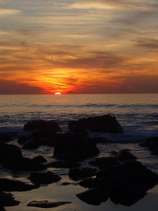© Joseph Dougherty. All rights reserved.   Peaceful sunset along the San Diego coast.