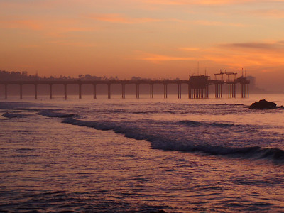 © Joseph Dougherty.  All rights reserved.   Peaceful sunset with pier over the Pacific Ocean in San Diego.