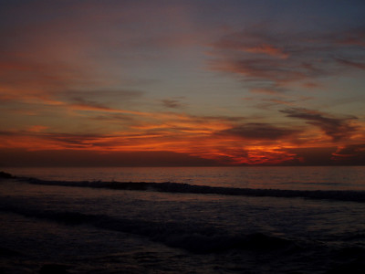 © Joseph Dougherty.  All rights reserved.   Peaceful sunset with colorful clouds along the San Diego coast.