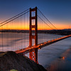 © Joseph Dougherty. All rights reserved.   Golden Gate Bridge at dawn; Marin County, California.