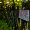 © Joseph Dougherty. All rights reserved. <br /> <br /> Sonoma fenceline.  No trespassing.