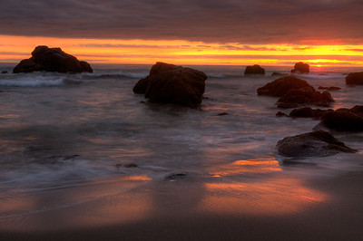© Joseph Dougherty. All rights reserved.   Sonoma coast sunset.