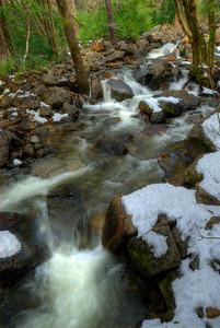 © Joseph Dougherty. All rights reserved.   Bridalveil Creek as it runs across the Yosemite Valley floor.