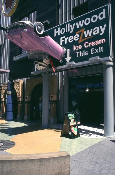 Ice cream parlour Universal Studios Los Angeles