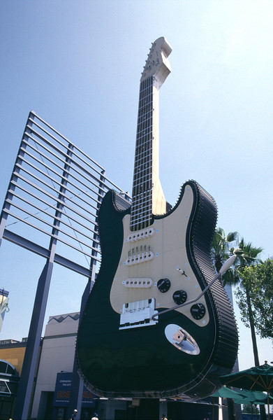 Giant electric guitar Universal Studios Los Angeles