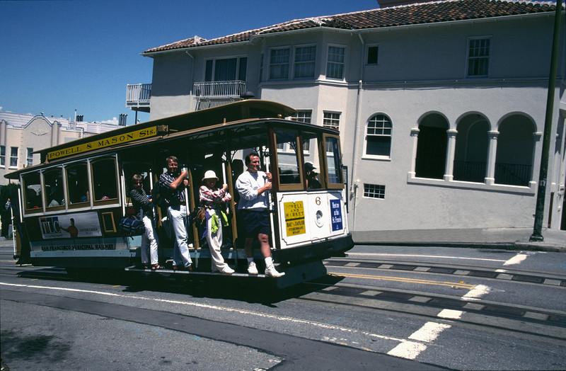 San Francisco cable car on Mason Street