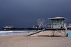 Lifeguard hut at Santa Monica Beach Los Angeles
