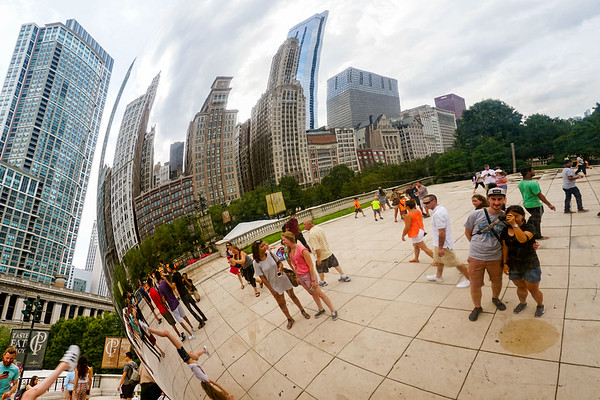 Cloud Gate at Millennium Park in Chicago, Illinois