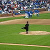 Abe Lincoln threw out the first pitch.