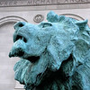 A lion in front of the Art Institute.